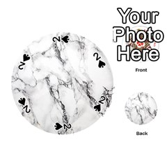 White Marble Stone Print Playing Cards 54 (round)