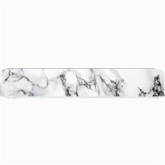 White Marble Stone Print Small Bar Mats by Dushan