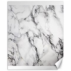 White Marble Stone Print Canvas 11  x 14   by Dushan