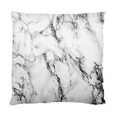 White Marble Stone Print Standard Cushion Cases (two Sides)