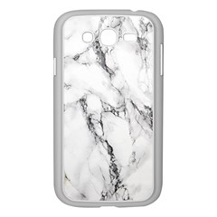 White Marble Stone Print Samsung Galaxy Grand DUOS I9082 Case (White) by Dushan