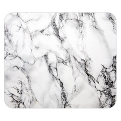 White Marble Stone Print Double Sided Flano Blanket (small)  by Dushan