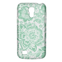 Mint Green And White Baroque Floral Pattern Galaxy S4 Mini by Dushan
