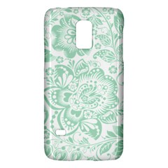 Mint Green And White Baroque Floral Pattern Galaxy S5 Mini by Dushan