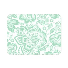 Mint Green And White Baroque Floral Pattern Double Sided Flano Blanket (mini)  by Dushan