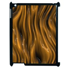 Shiny Silk Golden Apple Ipad 2 Case (black) by MoreColorsinLife