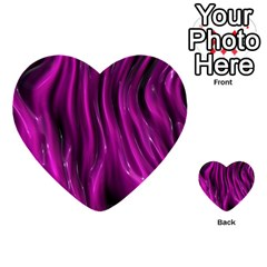 Shiny Silk Pink Multi Purpose Cards (heart)