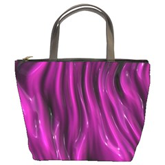 Shiny Silk Pink Bucket Bags by MoreColorsinLife