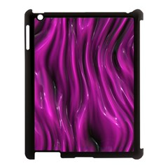 Shiny Silk Pink Apple Ipad 3/4 Case (black) by MoreColorsinLife