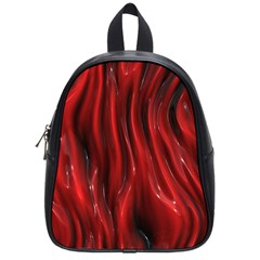 Shiny Silk Red School Bags (small)  by MoreColorsinLife