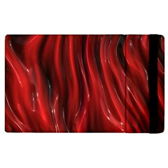 Shiny Silk Red Apple iPad 2 Flip Case by MoreColorsinLife