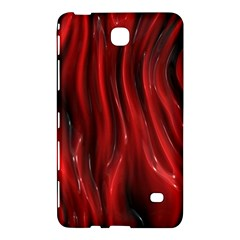 Shiny Silk Red Samsung Galaxy Tab 4 (7 ) Hardshell Case  by MoreColorsinLife