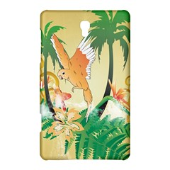 Funny Budgies With Palm And Flower Samsung Galaxy Tab S (8 4 ) Hardshell Case