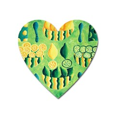 Lemons And Limes Heart Magnet by julienicholls