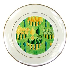 Lemons And Limes Porcelain Plates by julienicholls