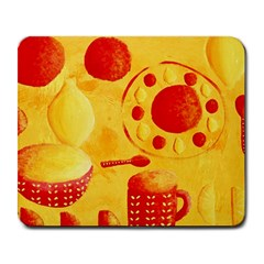 Lemons And Oranges With Bowls  Large Mousepads by julienicholls
