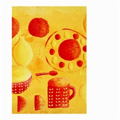 Lemons And Oranges With Bowls  Small Garden Flag (two Sides) by julienicholls