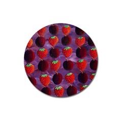 Strawberries And Plums  Magnet 3  (round) by julienicholls