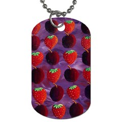 Strawberries And Plums  Dog Tag (one Side) by julienicholls