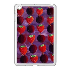 Strawberries And Plums  Apple Ipad Mini Case (white) by julienicholls