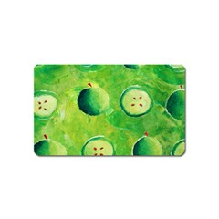 Apples In Halves  Magnet (name Card) by julienicholls