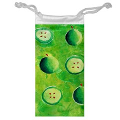 Apples In Halves  Jewelry Bags by julienicholls