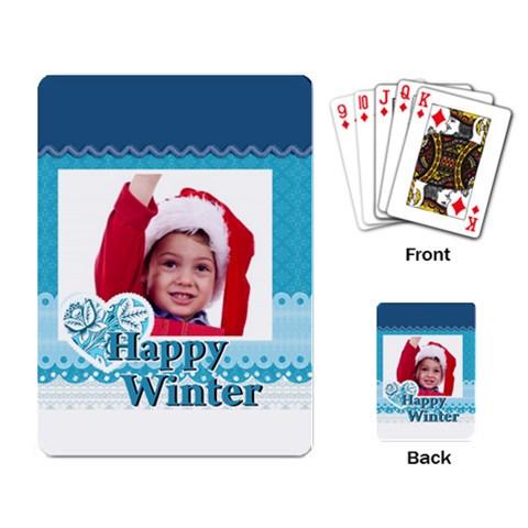 Xmas By Joy   Playing Cards Single Design   U218xpsx47ob   Www Artscow Com Back