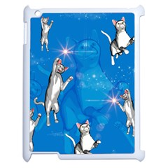 Funny, Cute Playing Cats With Stras Apple Ipad 2 Case (white) by FantasyWorld7