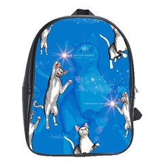 Funny, Cute Playing Cats With Stras School Bags (xl)  by FantasyWorld7