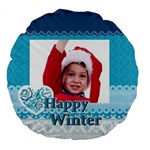xmas - Large 18  Premium Round Cushion