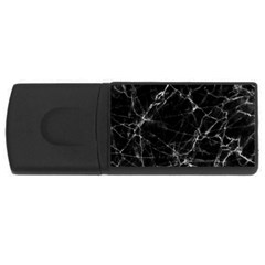 Black Marble Stone Pattern Usb Flash Drive Rectangular (4 Gb)  by Dushan