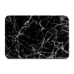 Black Marble Stone Pattern Plate Mats by Dushan