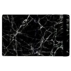 Black Marble Stone Pattern Apple Ipad 3/4 Flip Case by Dushan