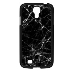 Black Marble Stone Pattern Samsung Galaxy S4 I9500/ I9505 Case (black) by Dushan