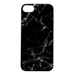 Black Marble Stone Pattern Apple Iphone 5s Hardshell Case by Dushan