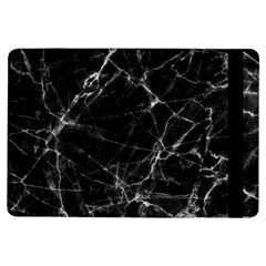 Black Marble Stone Pattern Ipad Air Flip by Dushan
