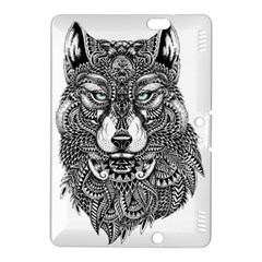 Intricate elegant wolf head illustration Kindle Fire HDX 8.9  Hardshell Case by Dushan