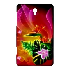 Awesome F?owers With Glowing Lines Samsung Galaxy Tab S (8.4 ) Hardshell Case  by FantasyWorld7