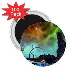 Fantasy Landscape With Lamp Boat And Awesome Sky 2 25  Magnets (100 Pack)  by FantasyWorld7