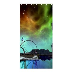 Fantasy Landscape With Lamp Boat And Awesome Sky Shower Curtain 36  x 72  (Stall)  by FantasyWorld7
