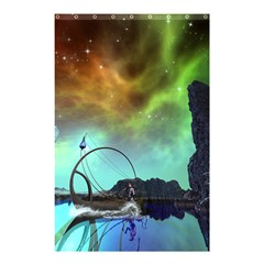Fantasy Landscape With Lamp Boat And Awesome Sky Shower Curtain 48  X 72  (small)  by FantasyWorld7
