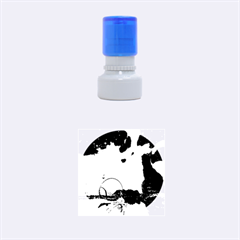 Fantasy Landscape With Lamp Boat And Awesome Sky Rubber Round Stamps (Small) by FantasyWorld7