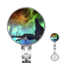 Fantasy Landscape With Lamp Boat And Awesome Sky Stainless Steel Nurses Watches by FantasyWorld7