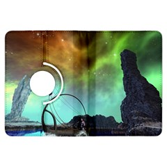 Fantasy Landscape With Lamp Boat And Awesome Sky Kindle Fire Hdx Flip 360 Case by FantasyWorld7