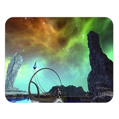 Fantasy Landscape With Lamp Boat And Awesome Sky Double Sided Flano Blanket (large)  by FantasyWorld7