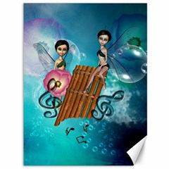 Music, Pan Flute With Fairy Canvas 36  X 48   by FantasyWorld7