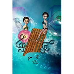 Music, Pan Flute With Fairy 5 5  X 8 5  Notebooks by FantasyWorld7