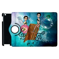 Music, Pan Flute With Fairy Apple Ipad 3/4 Flip 360 Case by FantasyWorld7