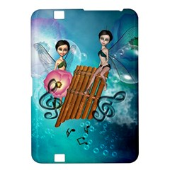 Music, Pan Flute With Fairy Kindle Fire Hd 8 9  by FantasyWorld7