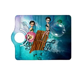 Music, Pan Flute With Fairy Kindle Fire Hd (2013) Flip 360 Case by FantasyWorld7
